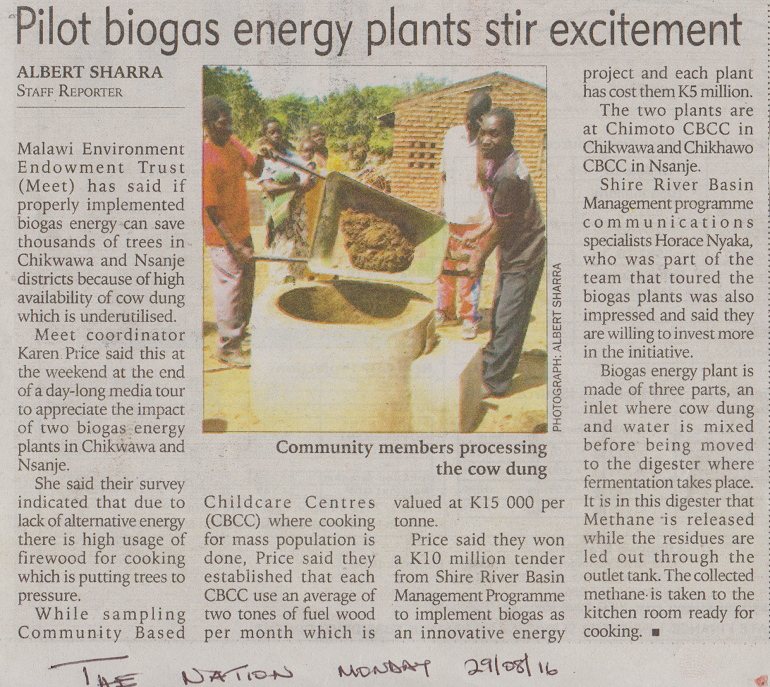Pilot biogas energy plants stir excitement