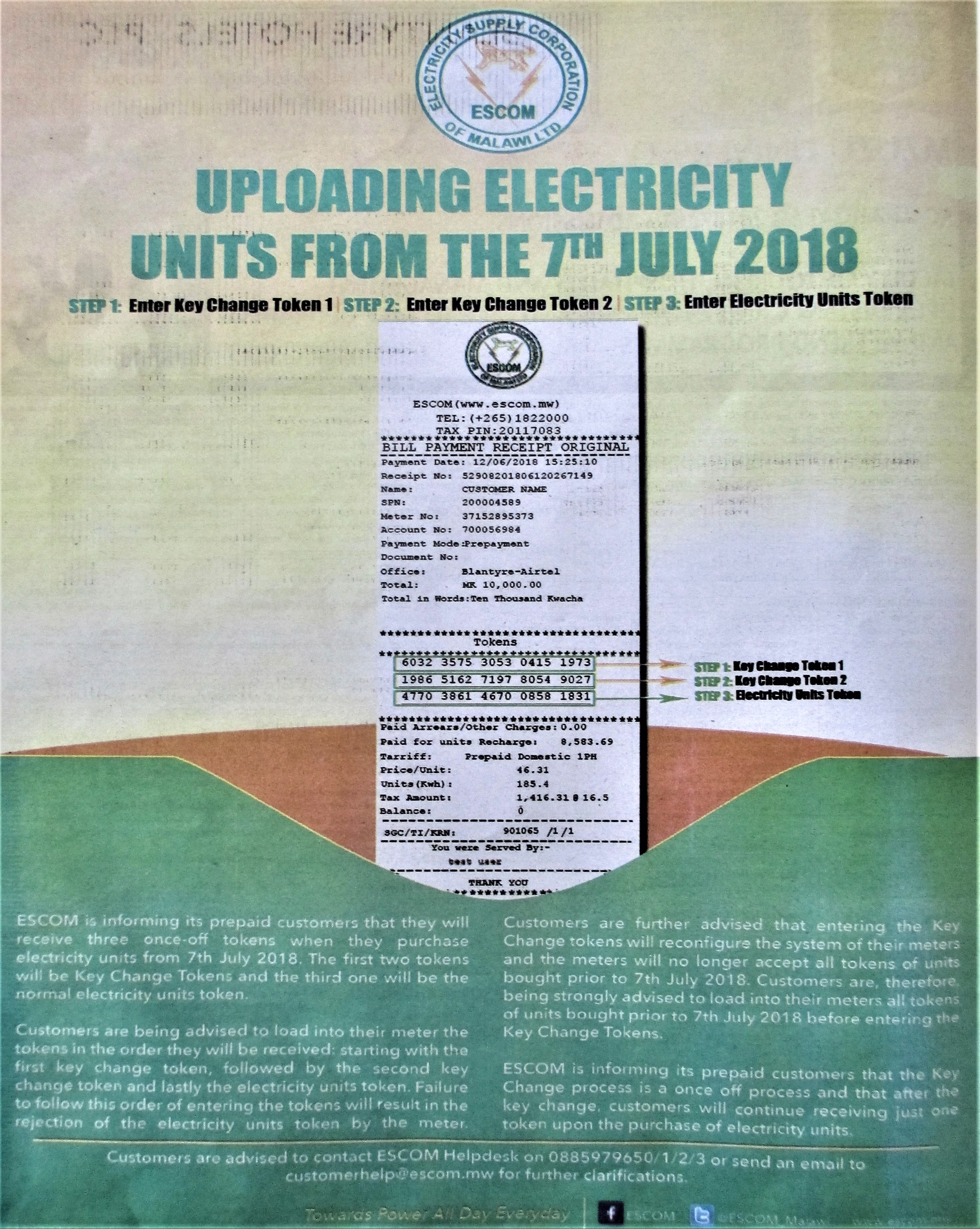 New Way of Uploading Electricity Units from 7th July 2018